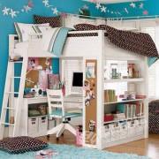 訂做 松木 高架床 組合
