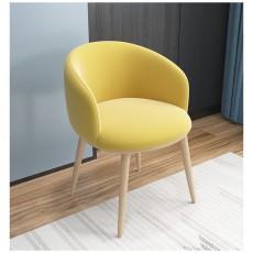 5折  100%New 灰皮色 北歐 餐椅