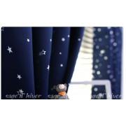 自選訂造尺寸 2色 天空籃   星星 優質布料 窗簾 / 枱布 / 桌布 / 梳化布 / 窗紗