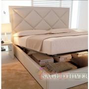 (自選訂造尺寸)  高級 軟身床頭板儲物油壓床  (精選貨品包安裝送貨)