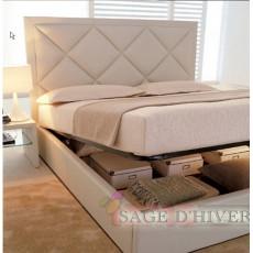 (自選訂造尺寸)  高級 軟身床頭板儲物油壓床