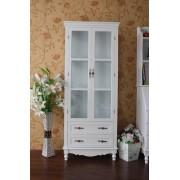 法式 三面玻璃 田園 實木 儲物 酒 裝飾物 高身 單門+2櫃捅+柜
