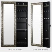 復古 防水 多功能 儲物柜 鏡面 趟門 掛牆 飾物櫃 全身鏡 飾物柜 化妝櫃