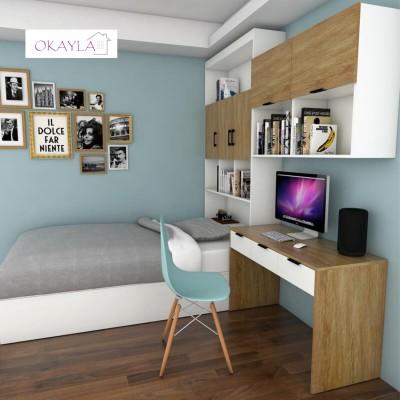 自選訂做尺寸 地台床 儲物櫃 書桌 組合