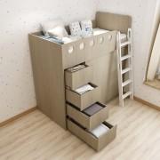 (自選訂做尺寸) 大容量衣櫃儲物高架床