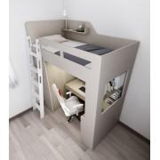 (自選訂做尺寸) 書桌衣櫃高架床