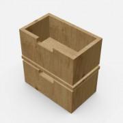 自由組合儲物柜配件-柜桶 (小) 2個 深20cm