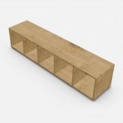 自由組合儲物柜  高37.6cm x 闊180.8cm x  深40cm  (可改尺寸)