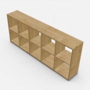 自由組合儲物柜  高73.4cm x 闊180.8cm x  深30cm  (可改尺寸)