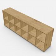 自由組合儲物柜  高73.4cm x 闊216.6cm x  深40cm  (可改尺寸)