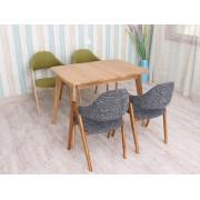 簡約實木伸縮桌