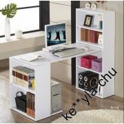 多功能 電腦桌 連書櫃