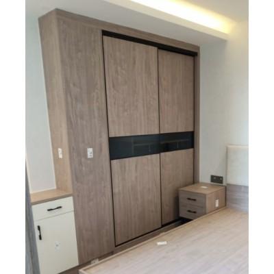 (自選訂做尺寸) 鋁框趟門衣櫃