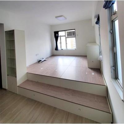E1多層木夾板 大容量儲物地台 可修囗封邊