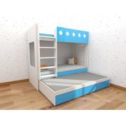 (自選訂做尺寸) 上下層柜桶高架床 可配子床