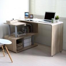 日本進口 曲尺電腦檯 側桌可旋轉360度 OAK