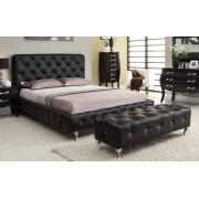 (自選訂造尺寸)  高級 軟身床頭板儲物油壓床 (閃鑽版)