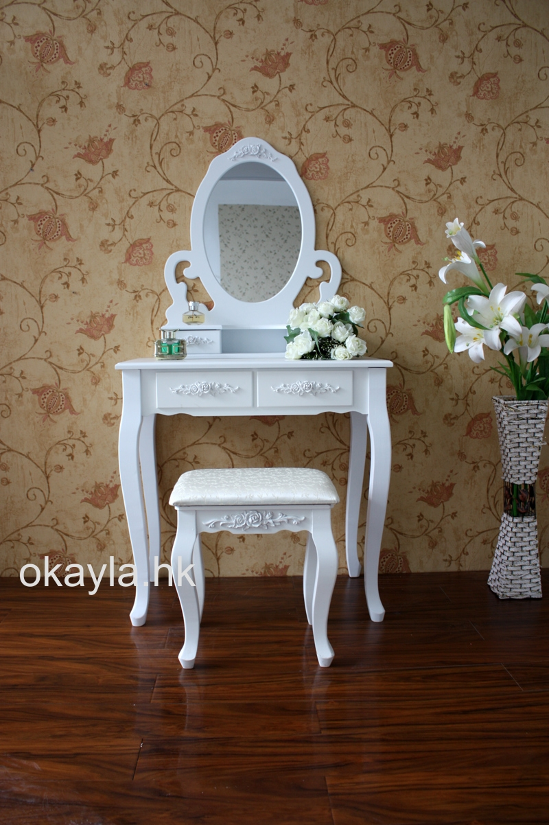 高級 田園式 公主 雕花 梳妝台
